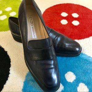 Enzo Angiolili Black Leather Loafer